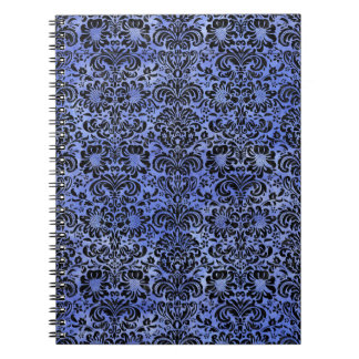 DAMASK2 BLACK MARBLE & BLUE WATERCOLOR (R) NOTEBOOKS