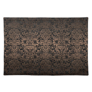 DAMASK2 BLACK MARBLE & BRONZE METAL PLACEMAT