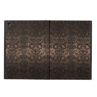 DAMASK2 BLACK MARBLE & BRONZE METAL (R) iPad AIR COVER
