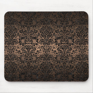 DAMASK2 BLACK MARBLE & BRONZE METAL (R) MOUSE PAD