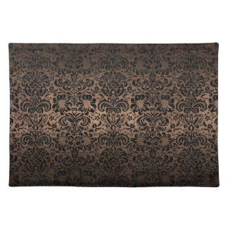 DAMASK2 BLACK MARBLE & BRONZE METAL (R) PLACEMAT