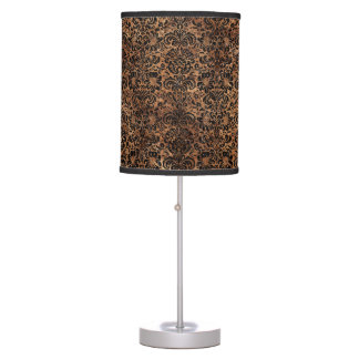 DAMASK2 BLACK MARBLE & BROWN STONE (R) TABLE LAMP