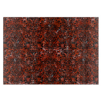 DAMASK2 BLACK MARBLE & RED MARBLE (R) CUTTING BOARD