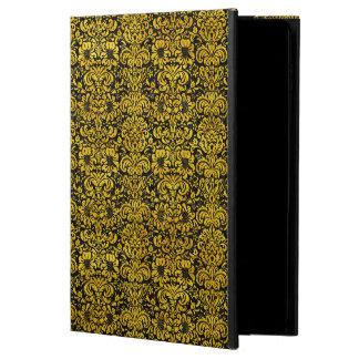 DAMASK2 BLACK MARBLE & YELLOW MARBLE POWIS iPad AIR 2 CASE