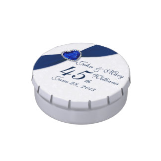 Damask 45th Wedding Anniversary Candy Tin