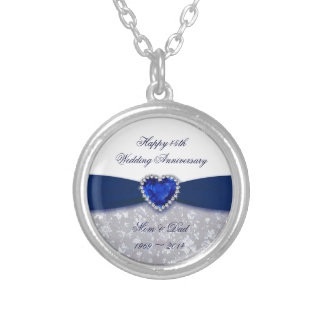 Damask 45th Wedding Anniversary Necklace