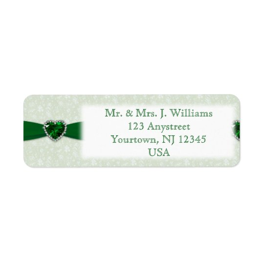 Damask 55th Wedding Anniversary Address Label