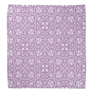 Damask African Violet Exclusive Monochrome Bandana