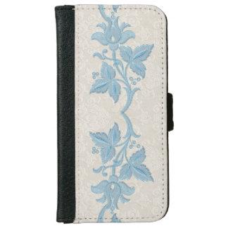 Damask and Art Nouveau Border iPhone 6 Wallet Case