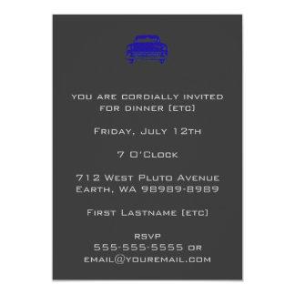 "Damask Auto 5"" X 7"" Invitation Card"
