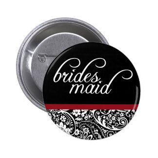 Damask Beauty Bridesmaid Button