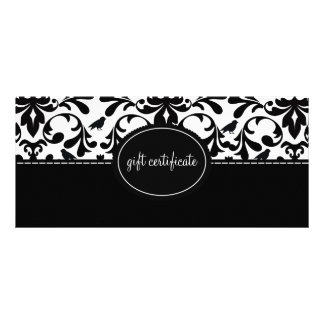 Damask Birds Boutique Style Gift Certificates