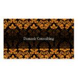 Damask Biz Card (Orange) Business Cards