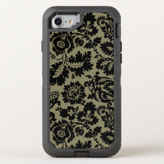Damask Black and White Pattern OtterBox Defender iPhone 7 Case