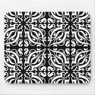 DAMASK - Black Background Mouse Pad