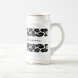 Damask Black Stein Coffee Mugs