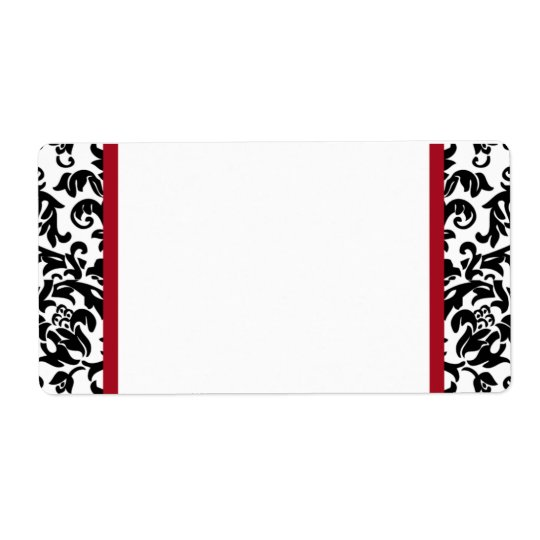 Damask Blank Shipping Labels