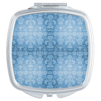 Damask-Blue-Multi Shapes Compact Mirrors