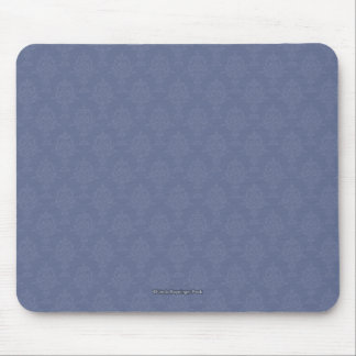 Damask Blue Tone on Tone Mouse Pad