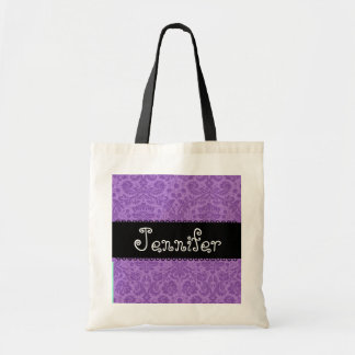 Damask Bridesmaid Tote Bag