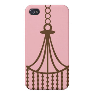 Damask chandelier wallpaper print pattern cases for iPhone 4