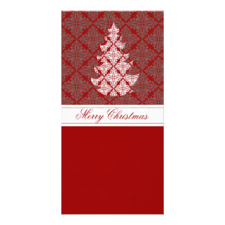 Damask Christmas Tree Picture Card