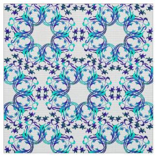 damask circles pattern fabric