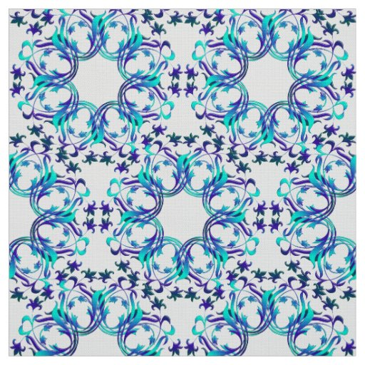 damask circles pattern fabric