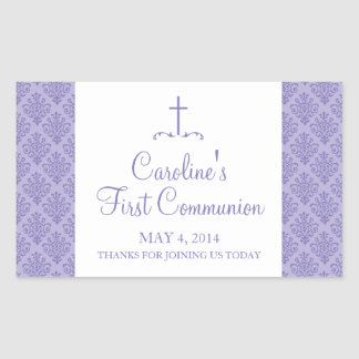 Damask Cross First Communion Sticker
