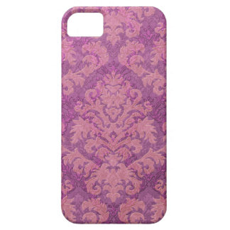 Damask Cut Velvet, Double Damask in Pink & Plum Case For The iPhone 5