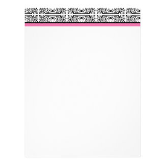 Damask Delight in Floral Pink Letterhead