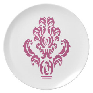 Damask Detail Magenta Party Plates