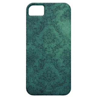 Damask Distressed Teal Floral iPhone 5 Covers
