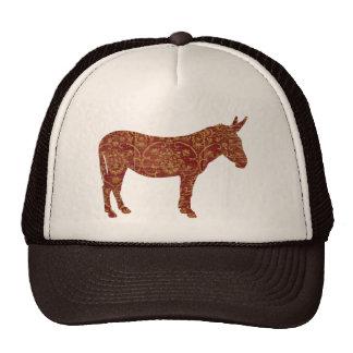 Damask Donkey Silhouette Lid Trucker Hat