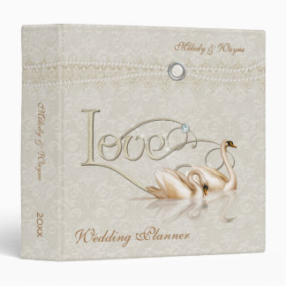 Damask Elegance Ivory - Wedding Planner 3 Ring Binder