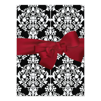 Damask Event Invitation Red large