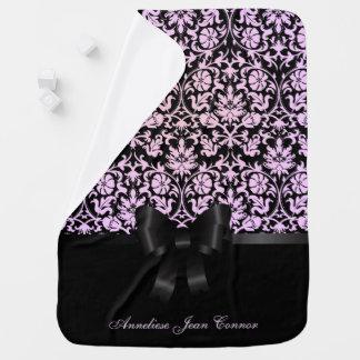 Damask Floral Design Pattern Baby Blankets