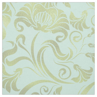 Damask Floral Shimmer Gold on Any Colour ID461 Fabric