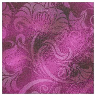 Damask Floral Shimmer Magenta Rose ID461 Fabric