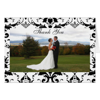 Damask Formal Thank You Card