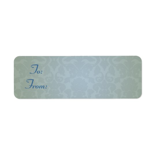 Damask Gift Tag Stickers
