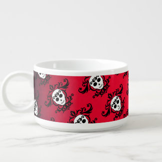 Damask girly skull pattern bowl