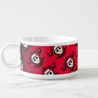Damask girly skull pattern chili bowl
