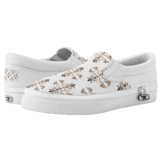 damask golden pattern Slip-On sneakers