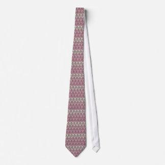 Damask Gradation Tie (Brown&Pink)