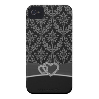 Damask gray iPhone 4 Case-Mate case