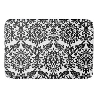 Damask Hare Pattern Bath Mat