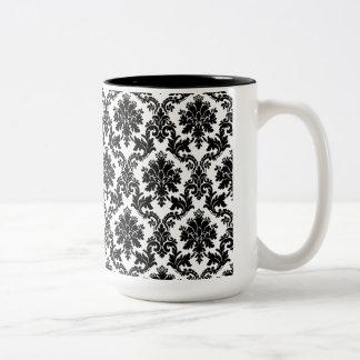 Damask home decor Two-Tone coffee mug