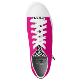 Damask/Hot Pink Sneakers by Elle Rose