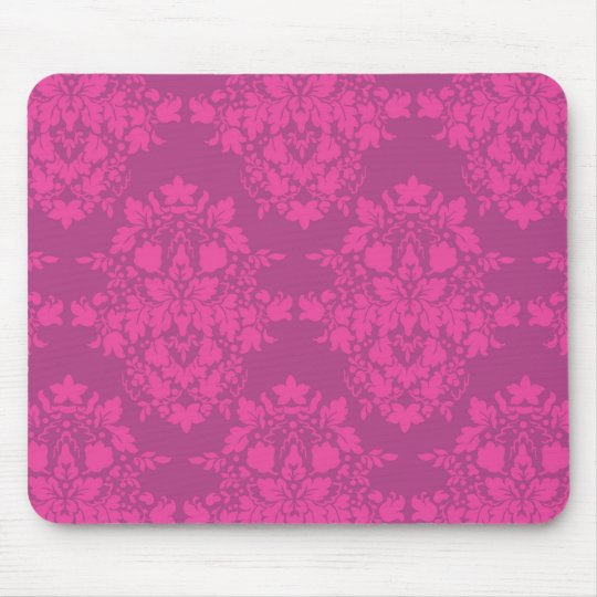 damask in pinks mouse pad
